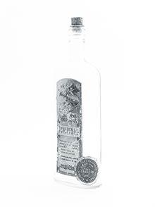 Pôvodná fľaša setiketou Medicinálna borovička JUNIPERUS
