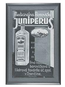 Kartónová reklamná tabuľa Medicinálna borovička JUNIPERUS