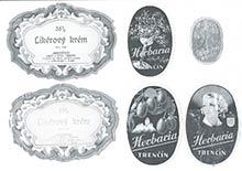 Etikety firmy HERBARIA