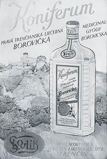 Reklamný obraz KONIFERUM továrne Slovlik