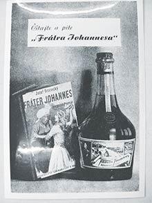 Reklama na Braneckého román Fráter Johannes arovnomenný likér