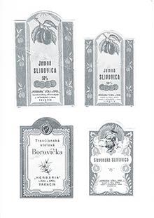 Etikety likérky HERBARIA po arizácii
