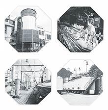 Vnútorný areál a výroba – fotografie zreklamnej publikácie zr. 1980