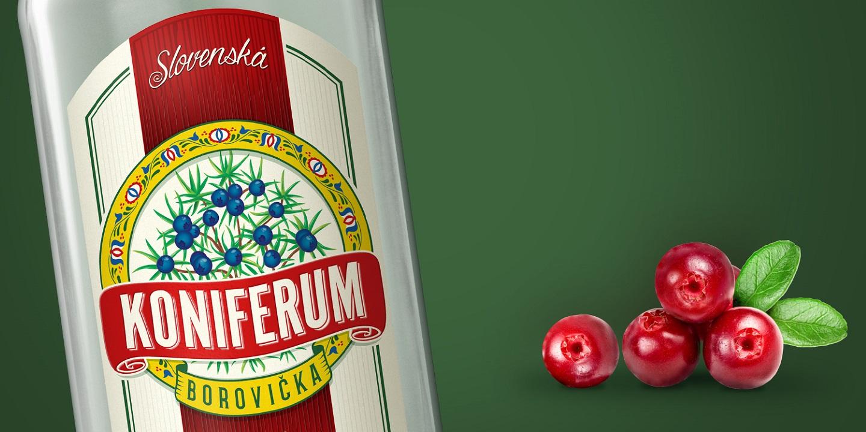 borovička koniferum brusnica