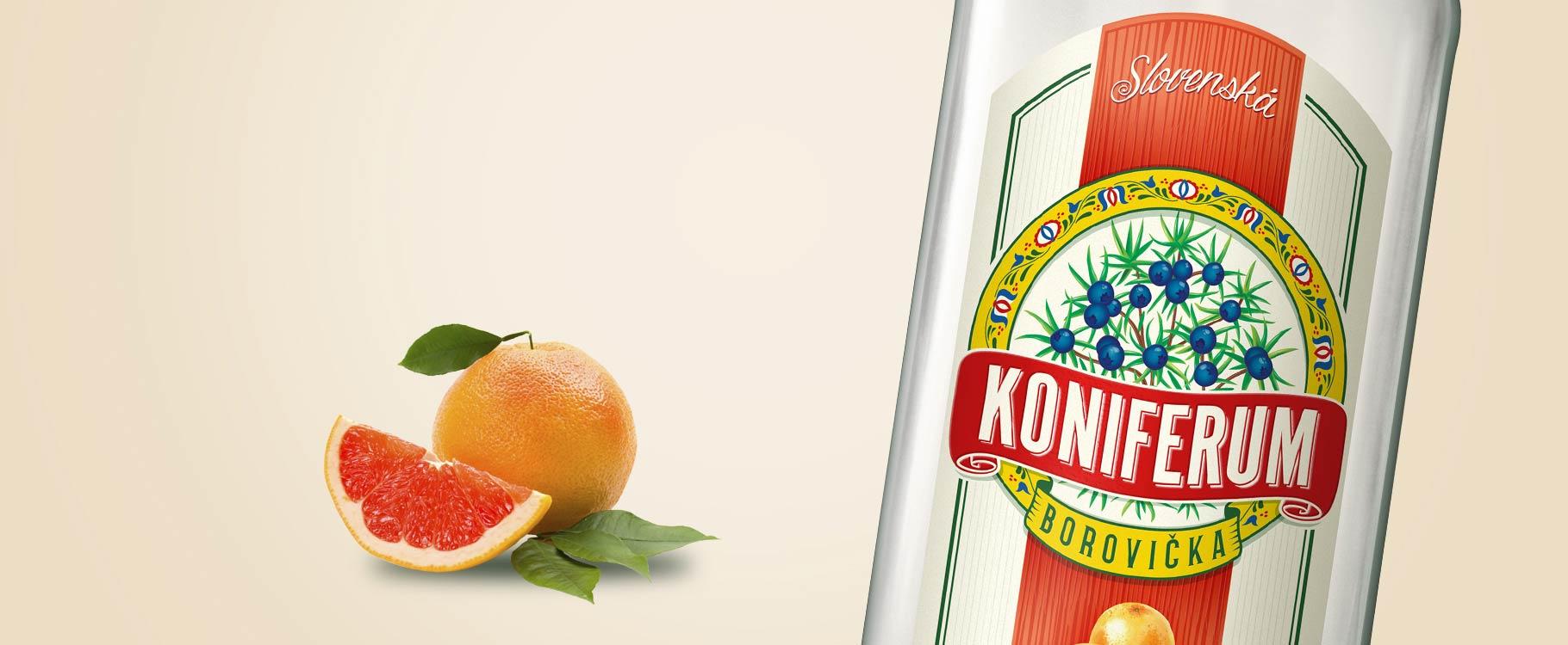 Koniferum borovička s grapefruitom