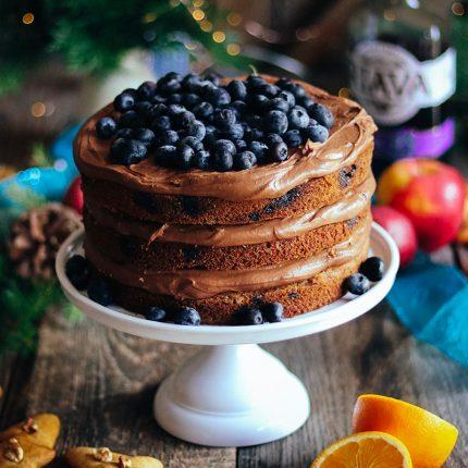 Vianočná čučoriedková torta