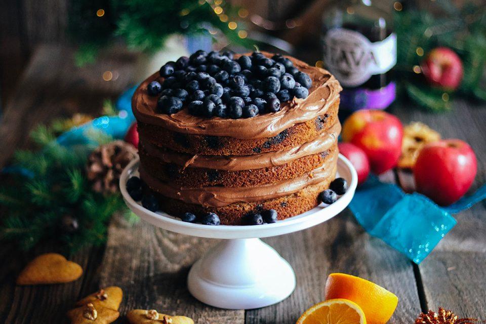 Čučoriedková vianočná torta