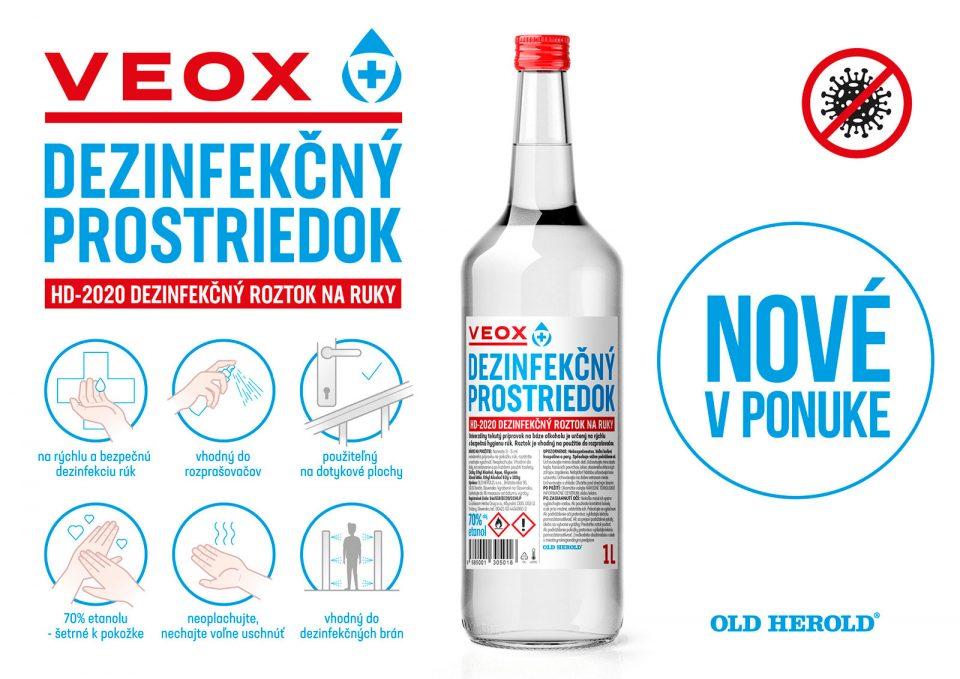 VEOX HD – 2020 profesionálny dezinfekčný prostriedok